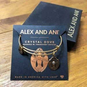 """Alex and Ani """"Crystal Dove"""" bracelet"""